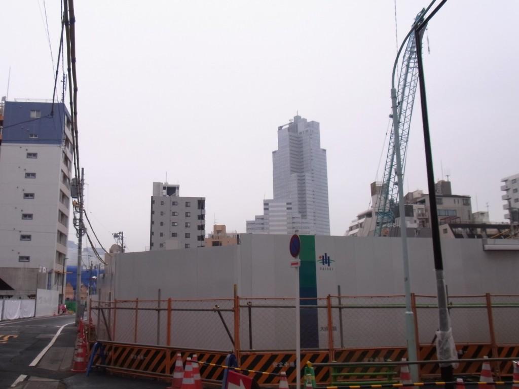 ライオンズマンション鉄砲洲跡地(北側から撮影)